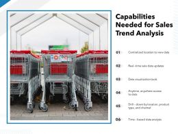 Capabilities Needed For Sales Trend Analysis
