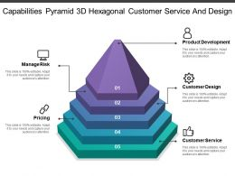 Capabilities Pyramid 3d Hexagonal Customer Service And Design