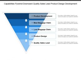 Capabilities Pyramid Downward Quality Sales Lead Product Design Development