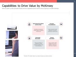 Capabilities To Drive Value By MCkinsey Ppt Powerpoint Presentation Slides Shapes