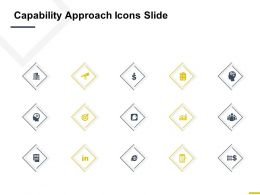 Capability Approach Icons Slide Goal I444 Ppt Powerpoint Presentation Styles Summary