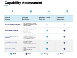 Capability Assessment Revenue Ppt Powerpoint Presentation Summary