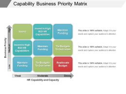 Capability Business Priority Matrix Example Of Ppt
