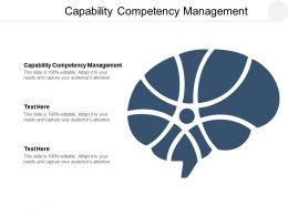 Capability Competency Management Ppt Powerpoint Presentation Layouts Gridlines Cpb