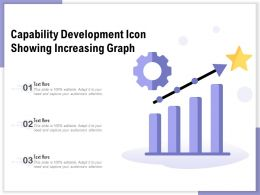 Capability Development Icon Showing Increasing Graph