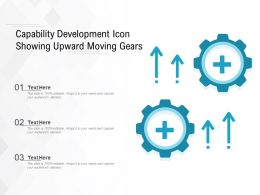 Capability Development Icon Showing Upward Moving Gears