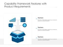 Capability Framework Features With Product Requirements