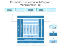 Capability Framework With Program Management Tool
