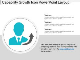 Capability Growth Icon Powerpoint Layout
