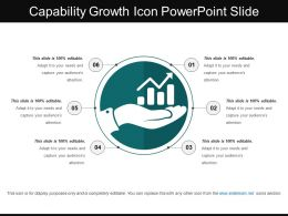 Capability Growth Icon Powerpoint Slide
