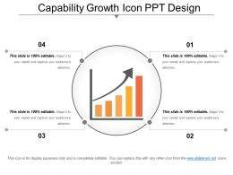 Capability Growth Icon Ppt Design