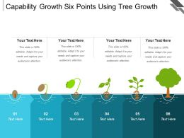 Capability Growth Six Points Using Tree Growth