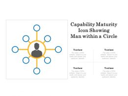 Capability Maturity Icon Showing Man Within A Circle