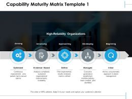 Capability Maturity Matrix Approaching Developing