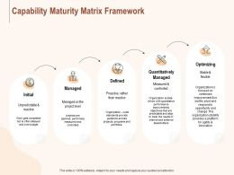 Capability Maturity Matrix Framework Ppt Powerpoint Presentation Layouts File Formats