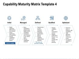 Capability Maturity Matrix Initial Ppt Powerpoint Presentation Aids