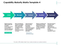 Capability Maturity Matrix Initial Qualified Ppt Powerpoint Presentation Slides Graphics