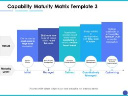 Capability Maturity Matrix Maturity Level Ppt Layouts Example Introduction