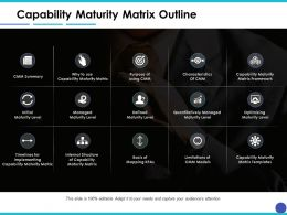 Capability Maturity Matrix Outline Ppt Model Example Introduction