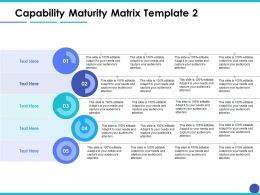 Capability Maturity Matrix Ppt Model Example Introduction