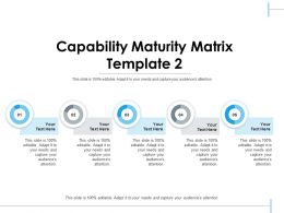 Capability Maturity Matrix Ppt Visual Aids Infographics