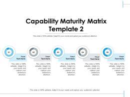 Capability Maturity Matrix Ppt Visual Aids Infographics