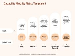 Capability Maturity Matrix Process Ppt Powerpoint Presentation Ideas Outfit