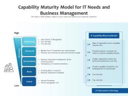 Capability Maturity Model For It Needs And Business Management