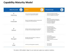 Capability Maturity Model Ppt Powerpoint Presentation Model Topics