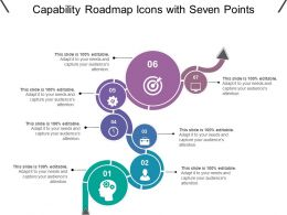 Capability Roadmap Icons With Seven Points