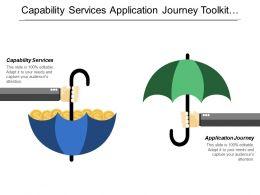Capability Services Application Journey Toolkit Roadmap Platform Technology