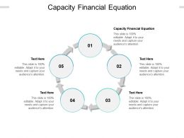 Capacity Financial Equation Ppt Powerpoint Presentation Styles Design Ideas Cpb
