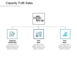 Capacity Fulfil Sales Ppt Powerpoint Presentation Gallery Deck Cpb