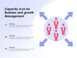 Capacity Icon For Business And Growth Management