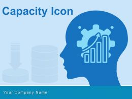 Capacity Icon Server Performance Thinking Working Gears Organization Resource