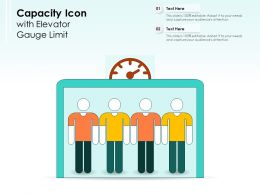 Capacity Icon With Elevator Gauge Limit