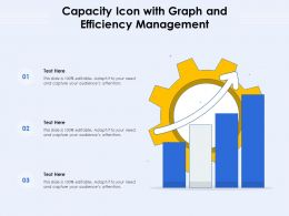 Capacity Icon With Graph And Efficiency Management