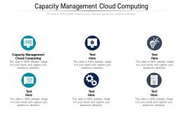 Capacity Management Cloud Computing Ppt Powerpoint Presentation Portfolio Visual Aids Cpb