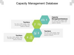Capacity Management Database Ppt Powerpoint Presentation Model Show Cpb