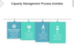 Capacity Management Process Activities Ppt Powerpoint Presentation Icon Slide Cpb