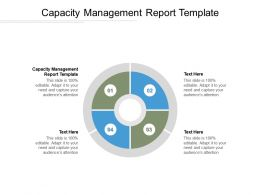 Capacity Management Report Template Ppt Powerpoint Presentation Ideas Clipart Cpb