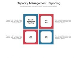 Capacity Management Reporting Ppt Powerpoint Presentation Gallery Example Cpb