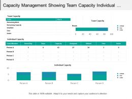 Capacity Management Showing Team Capacity Individual Capacity