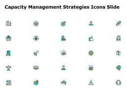 Capacity Management Strategies Icons Slide Target L866 Ppt Image