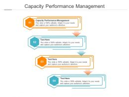 Capacity Performance Management Ppt Powerpoint Presentation Styles Cpb