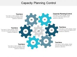 Capacity Planning Control Ppt Powerpoint Presentation Outline Samples Cpb
