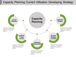 Capacity Planning Current Utilization Developing Strategy