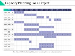 Capacity Planning For A Project Resource Effort Ppt Powerpoint Presentation Slides Samples