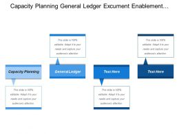 Capacity Planning General Ledger Excument Enablement Company Vision