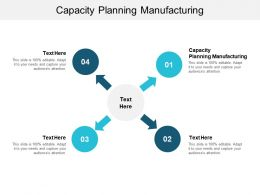 Capacity Planning Manufacturing Ppt Powerpoint Presentation Layouts Background Image Cpb